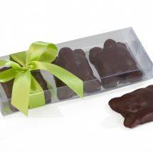 caja con 3 tortugas de chocolate para eventos Binny Brun