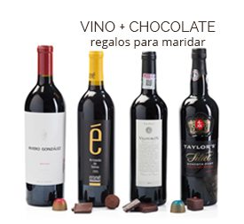 regalos de vino y chocolate