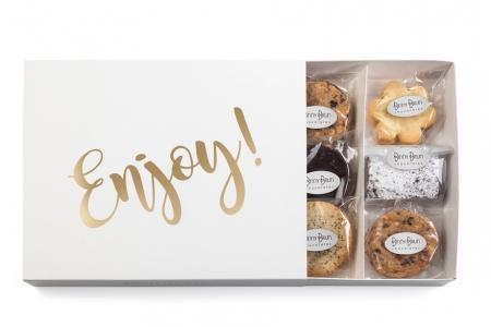 Caja de galletas y brownies
